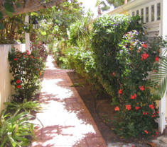 Villa Madeleine has tropical landscaped walkways and gardens.